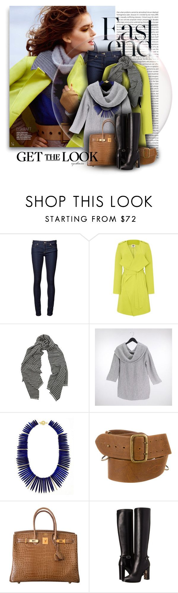 """Get the Look"" by cynthia335 ❤ liked on Polyvore featuring Olsson, Naked & Famous, Mercy Delta, Donna Karan, Janna Conner, Alexander McQueen, Hermès and Burberry"