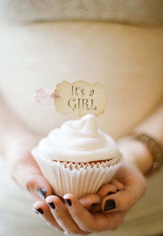Baby Shower Cupcake Toppers It's a Girl Cupcake Cake Slice Toppers Party Picks - Set of 18 on Etsy, $19.50