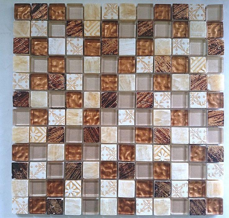 Mozaika Kamienno Szklana Beżowa MayA SuN wzorowana na BARWOLF Aztec - Mozaika Luksusowa - Mozaika szklana, złota, srebrna, czarna, biała, fioletowa, czerwona, basenowa, kamienna, mozaiki szklane