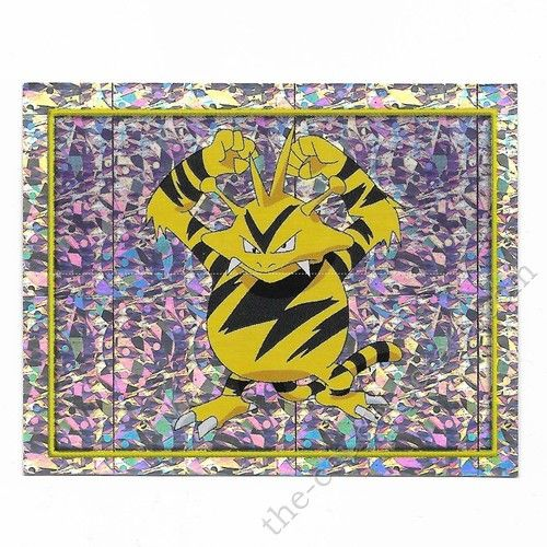 Pokemon Sticker Card  Electabuzz foil # 112 2x3 inches Merlin 2000 TV show pictures