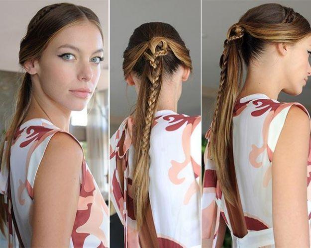 Прическа на 1 сентября - низкий конский хвост в сочетании с косой ::: onelady.ru ::: #hair #hairs #hairstyle #hairstyles