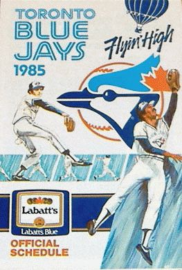 Blue Jays Pocket Schedule (1985) from Sports Logos http://www.sportslogos.net/logos/view/a4qhxzma3g9dwhn8ymfdg6jil/Toronto_Blue_Jays/1985/Pocket_Schedule