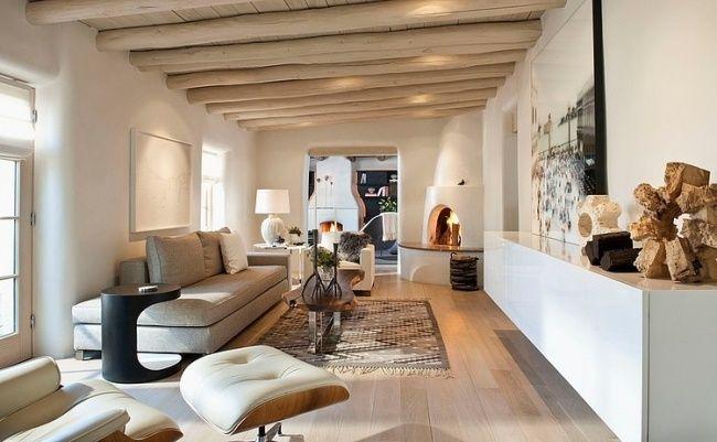 wohnzimmer moderne wohnideen helles holz treibholz farben ...