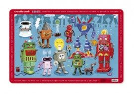 placemat crocodile creek robot