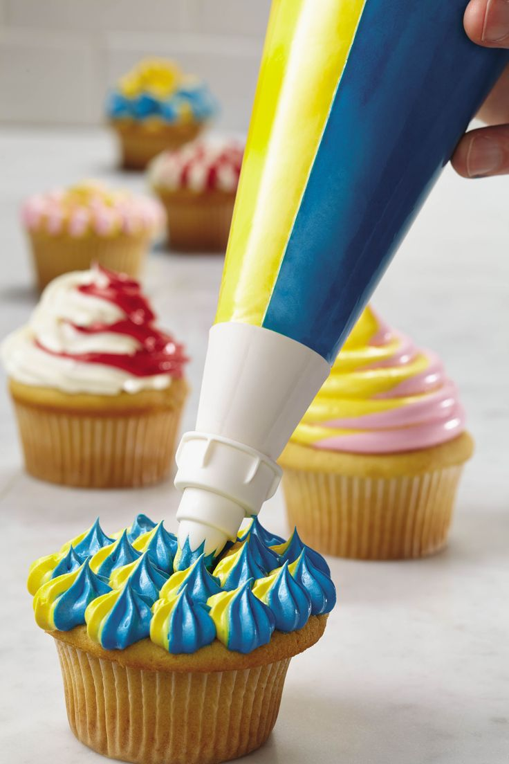 Make two-tone icing designs in a single squeeze with the ...