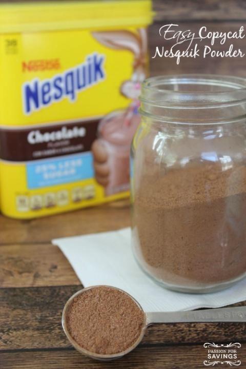Easy Copycat Nesquik Powder Recipe, replace sugar with a sugar sub.