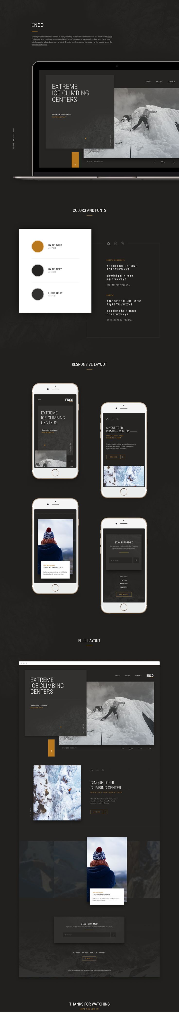 Enco  -  Extreme climbing centers on Behance
