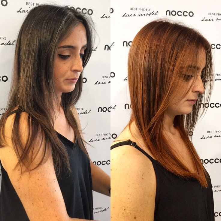 Un #cambiolook dalle sfumature #rame! #lorealproit #look #hair #totallook #top #nellemanigiuste #noccoparrucchieri #redhair #before #after