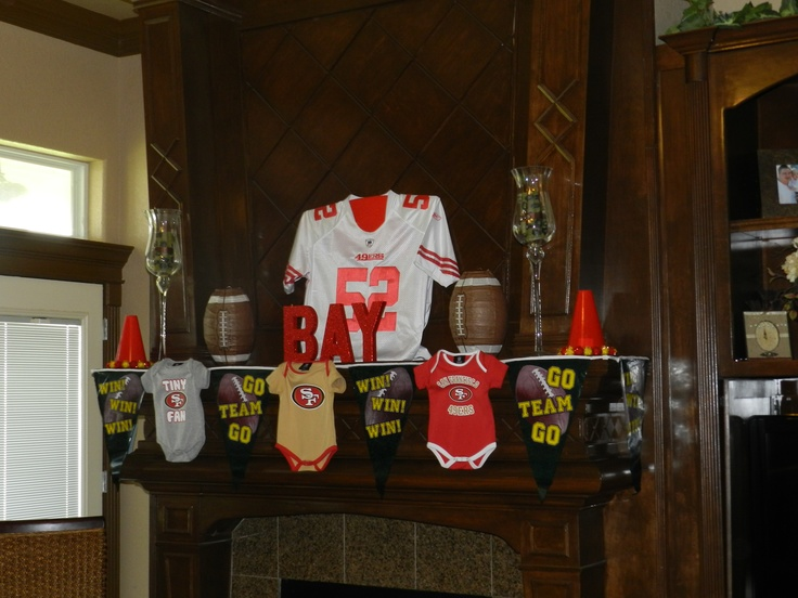 49ers baby shower crafty pinterest baby showers for 49ers bathroom decor