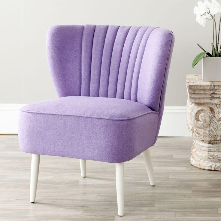 Safavieh Mid-Century Purple Accent Chair (MCR4548C) (Fabric)