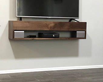 Solid Walnut Tv Console, Walnut Floating TV Console, walnut TV Stand, floating tv stand, tv console, floating tv console, furniture