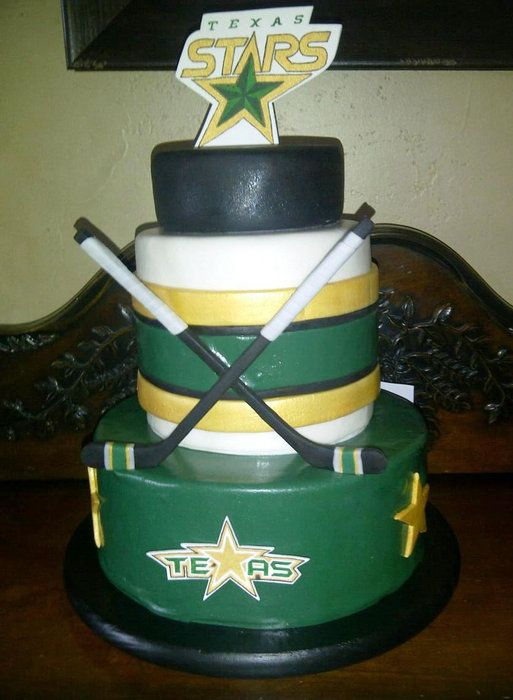 Texas Stars Hockey Team cake | Cake Designs in 2019 ...