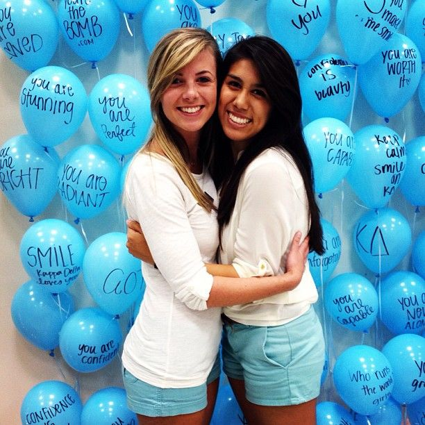 Have balloons at a recruitment event - have members write why they love APO on them.