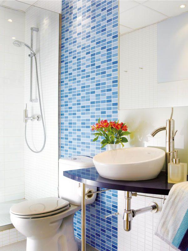 #Baños modernos: Combinar los #revestimientos