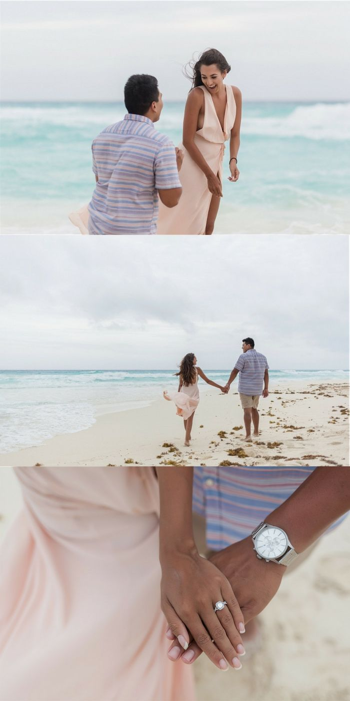 This beach proposal in Cancun is everything any girl could dream of!