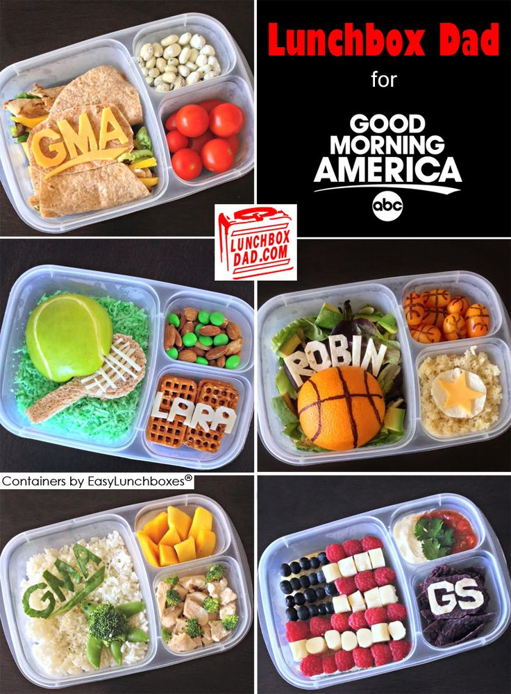 lunchbox dad packs lunches in easylunchboxes for good morning america easy lunch box lunches. Black Bedroom Furniture Sets. Home Design Ideas