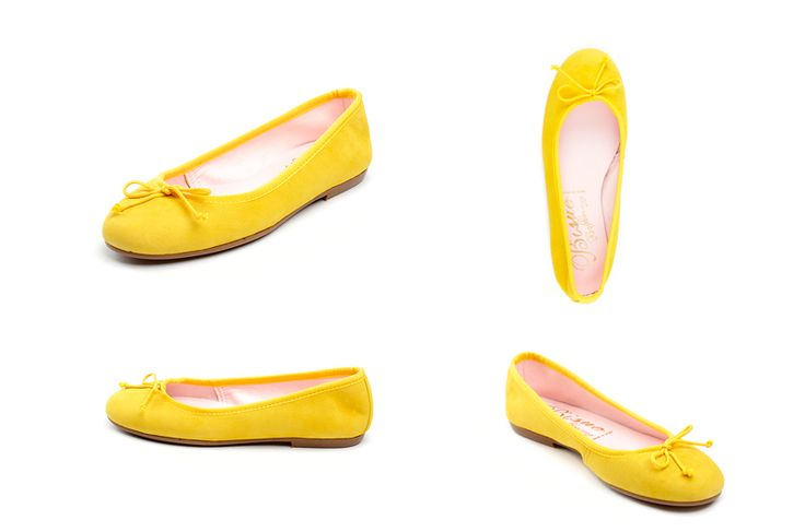 Bailarinas amarillas de la marca Bisue. Fotografia: Kinoki studio