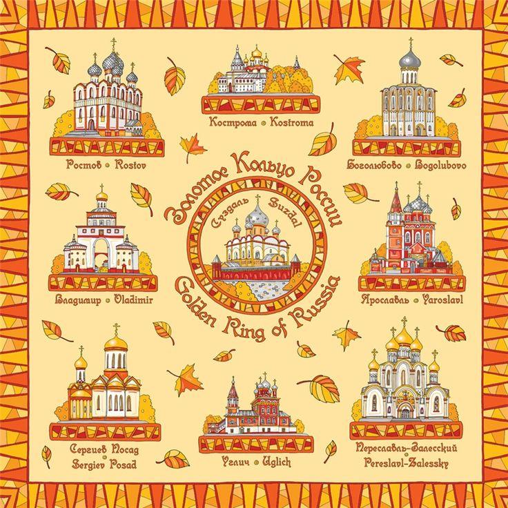 Золотое колцьцо России -туристический маршрут по древним городам вокруг Москвы