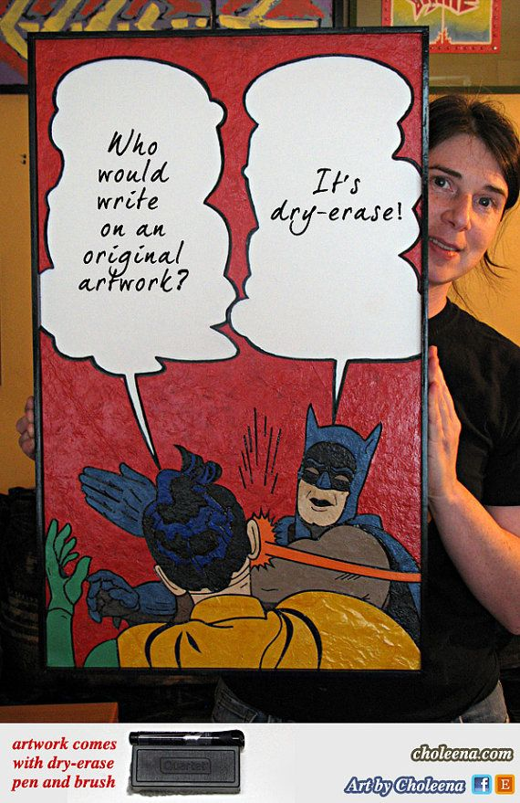 Batman Slap Meme  Paper TIle Mosaic  Medium  by ArtByCholeena, $275.00