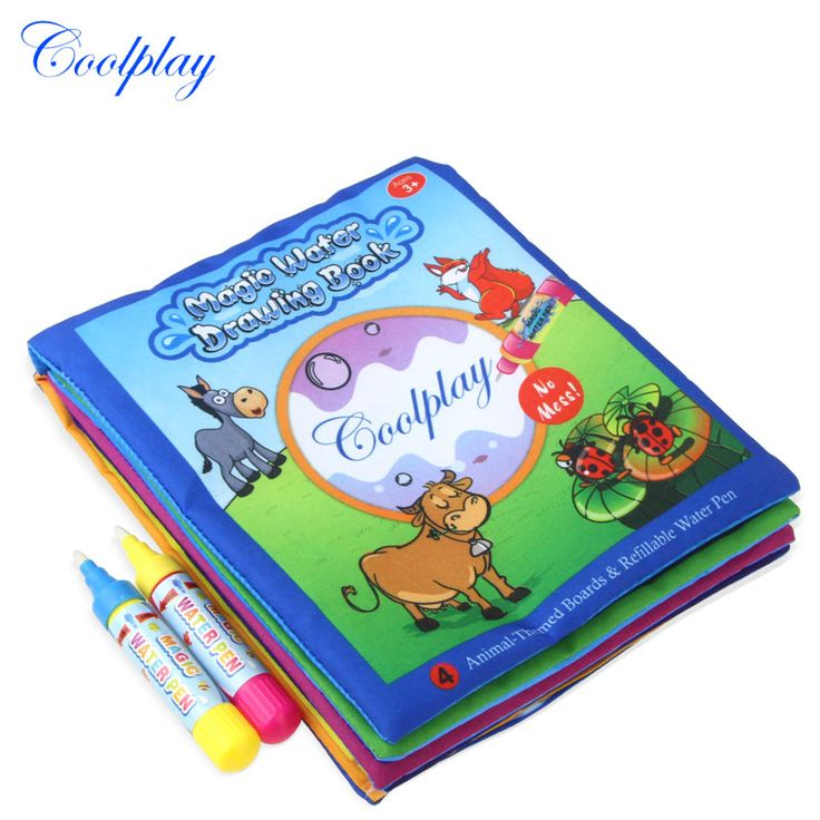 1 Pcs New Arrival Animals Water Drawing Book with 2 Magic Pen For Kids Educational learning toys 21*17cm 1392-2