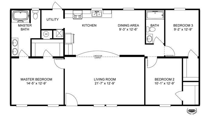 150 best floor plans images on pinterest oakwood homes for 28x48 house plans