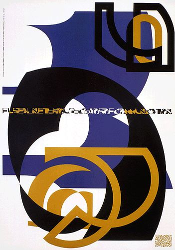 British Graphic Design A poster design for FontShop by Neville Brody 1991.