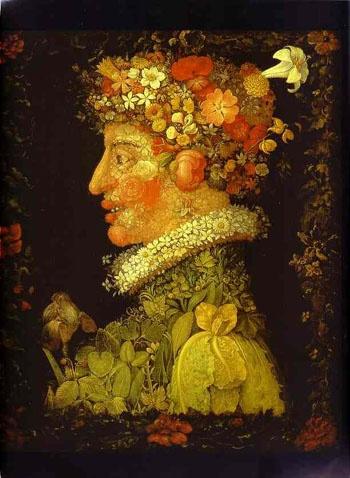 Happy Spring! from, Giuseppe Archimboldo, c. 1578