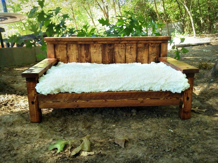 Rustic Daybed Style Doll Bed / Photography Prop / Dog Bed. $80.00, via Etsy.