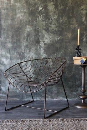 Dark Brass Wire Armchair