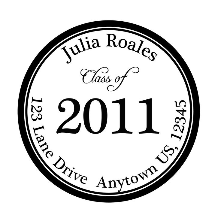 Graduation Personalized Stickers Set of 200 Great for