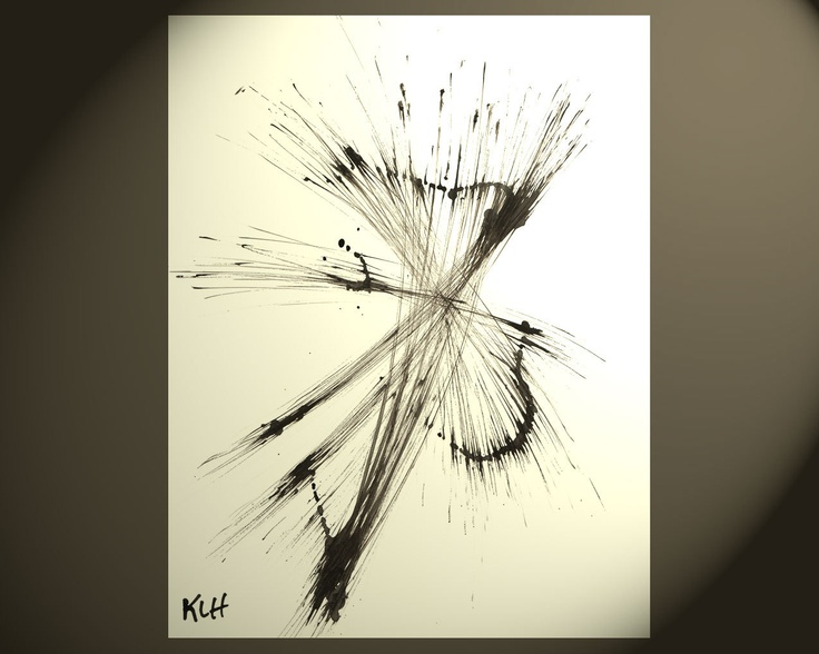 Contemporary Black and White Art – Abstract Expressionism Art Modern Original Ab