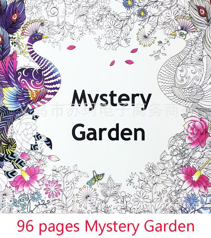The Secret Garden Mystery Garden album in English graffiti coloring book painting stationery decompression Secret Garden