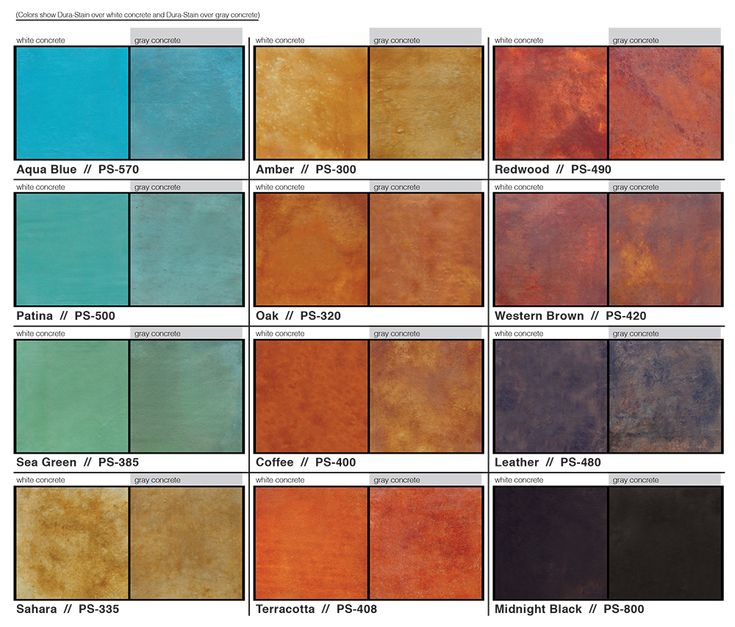 77 best concrete stain colors images on pinterest for Cement paint colors for floors