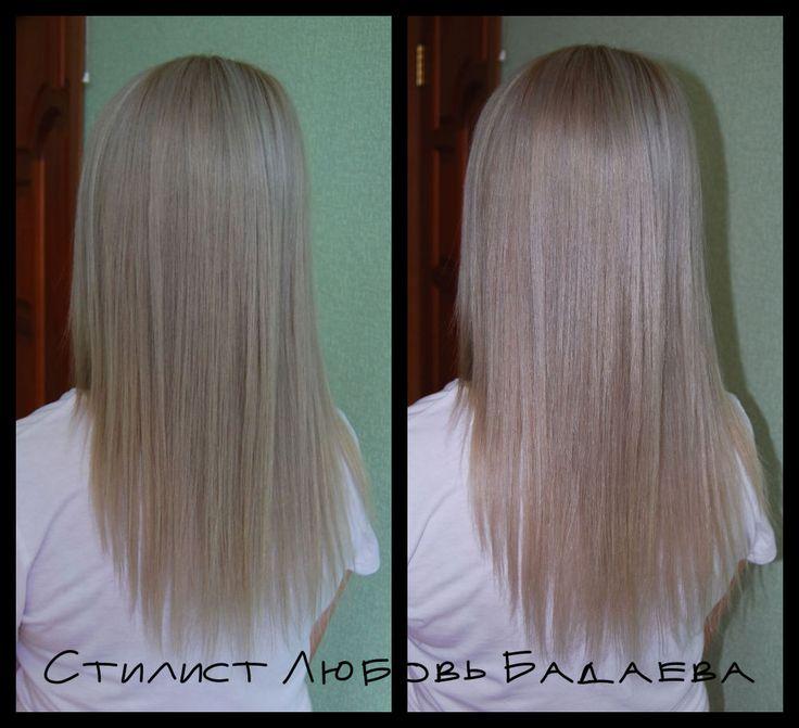 окрашивание пепельный блондин н длинные волосы