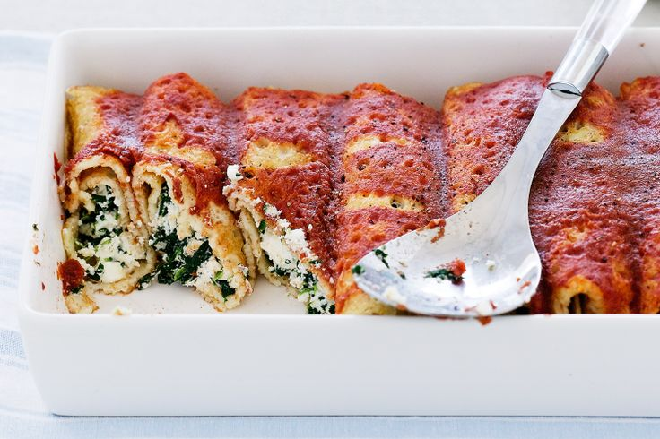 Simple ricotta and spinach cannelloni