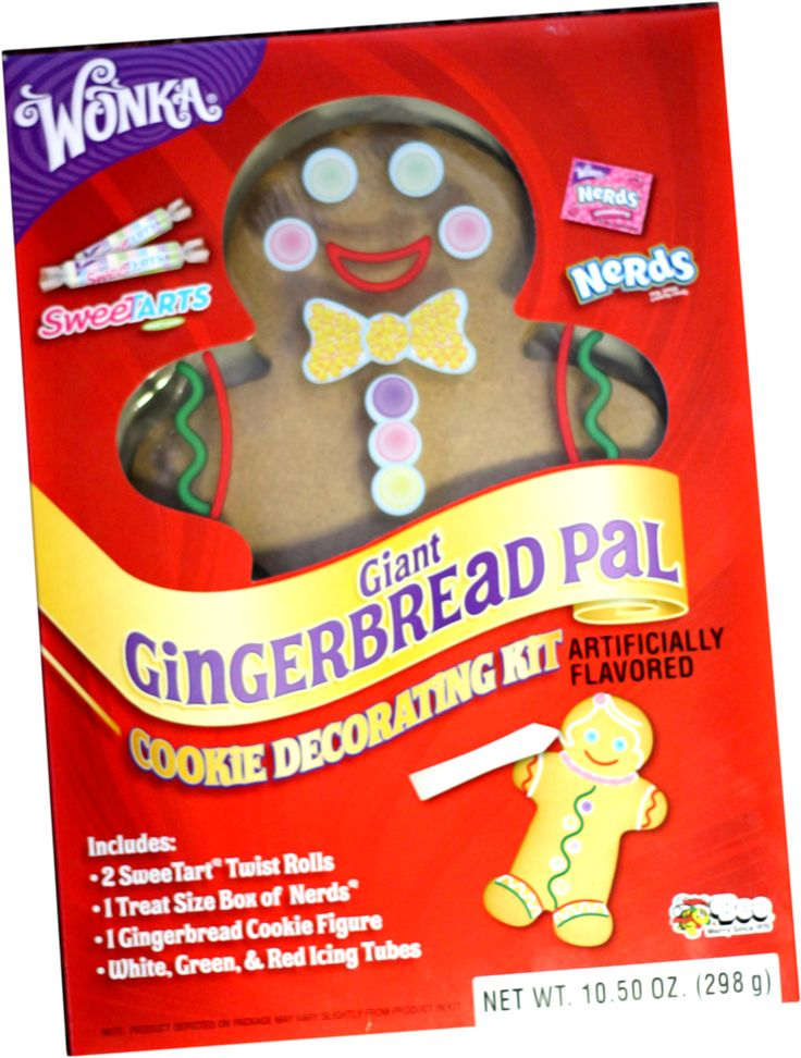 Wonka Giant Gingerbread Pal Cookie Decorating Kit Cookie