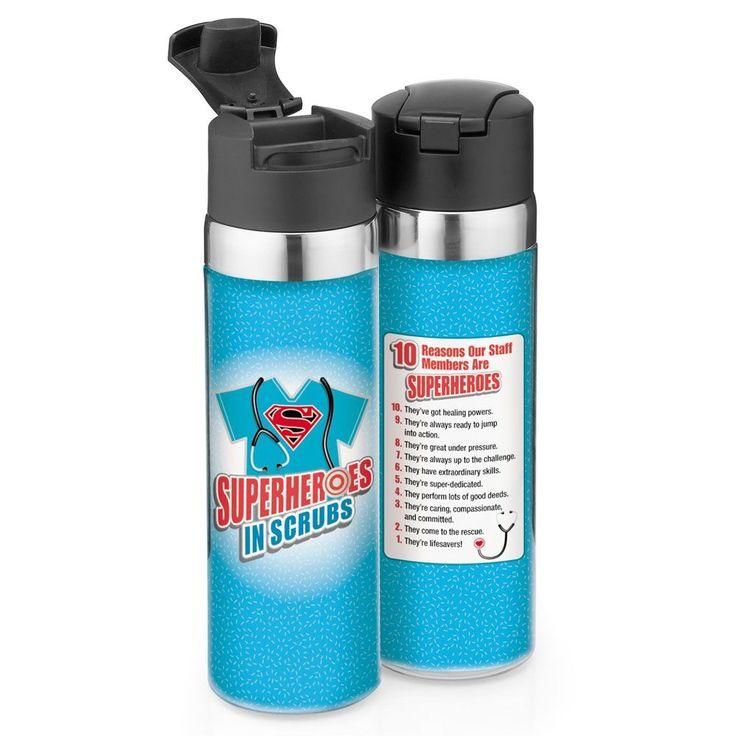 Superhereoes In Scrubs Vantage Water Bottle Positive