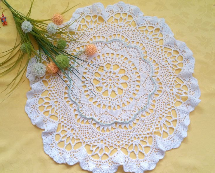 "Crocheted doily ""Summer Time""   https://wrytmnici.blogspot.com/"