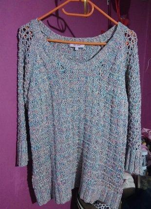 Kup mój przedmiot na #vintedpl http://www.vinted.pl/damska-odziez/swetry-z-dekoltem/12840987-piekny-sweter-ms-per-una-rozmiar-42-44-46