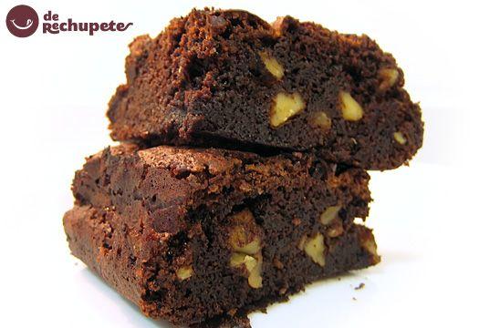 Receta de Brownies de chocolate con nueces. Forma clásica y fácil. - Recetasderechupete.com