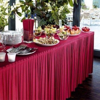 Sublima la presentazione dei tuoi buffet, ricevimenti e banchetti col questo skirting in tessuto non tessuto Dunicel® www.detercartasrl.com