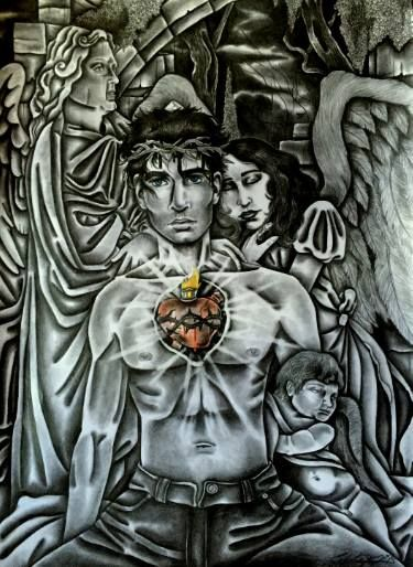 "Saatchi Art Artist Celeste Gómez; Drawing, ""JESUS"" #art"