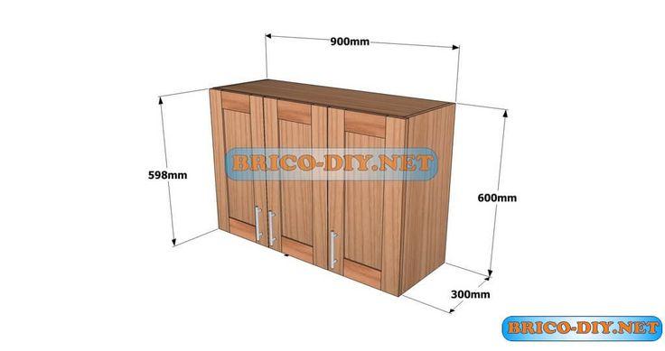 para hacer un mueble alto de cocina de madera cedro tablero hacer