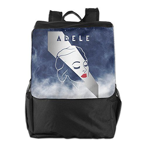 Adele Womens Black Military Lightweight Laptop Adjustable Strap Shoulder Bag * More info could be found at the image url. #GymBags