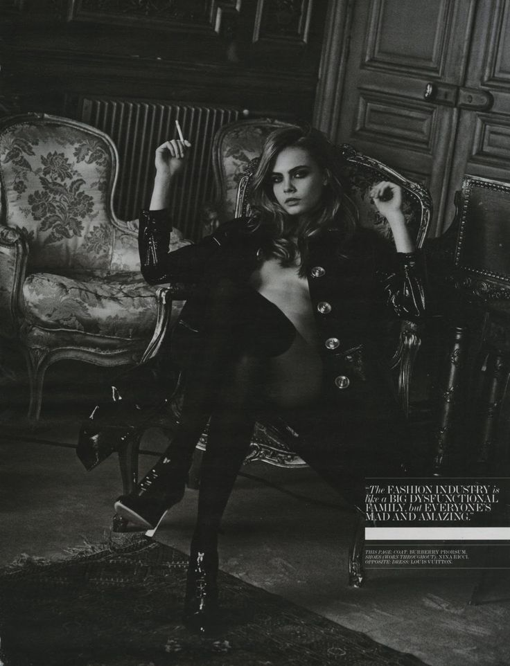 Cara Delevingne Poses Topless & Smokes for Interview April 2013 | The Front Row View