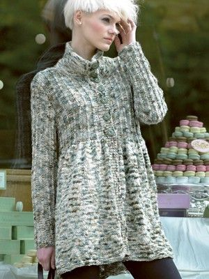 FREE THREE QUARTER COAT Pattern | Knitting Fever