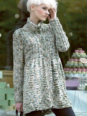 FREE THREE QUARTER COAT Pattern | Knitting Fever