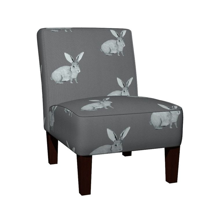 Maran Slipper Chair featuring Bunny Grey by traceyharveydesigns | Roostery Home Decor