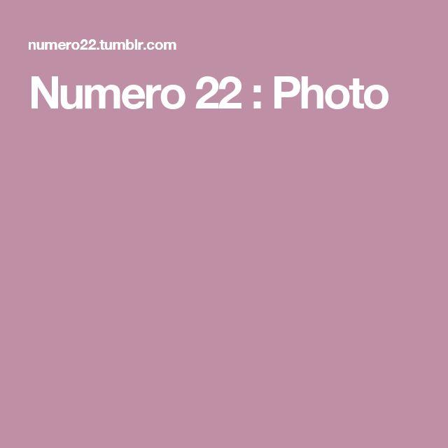 Numero 22 : Photo