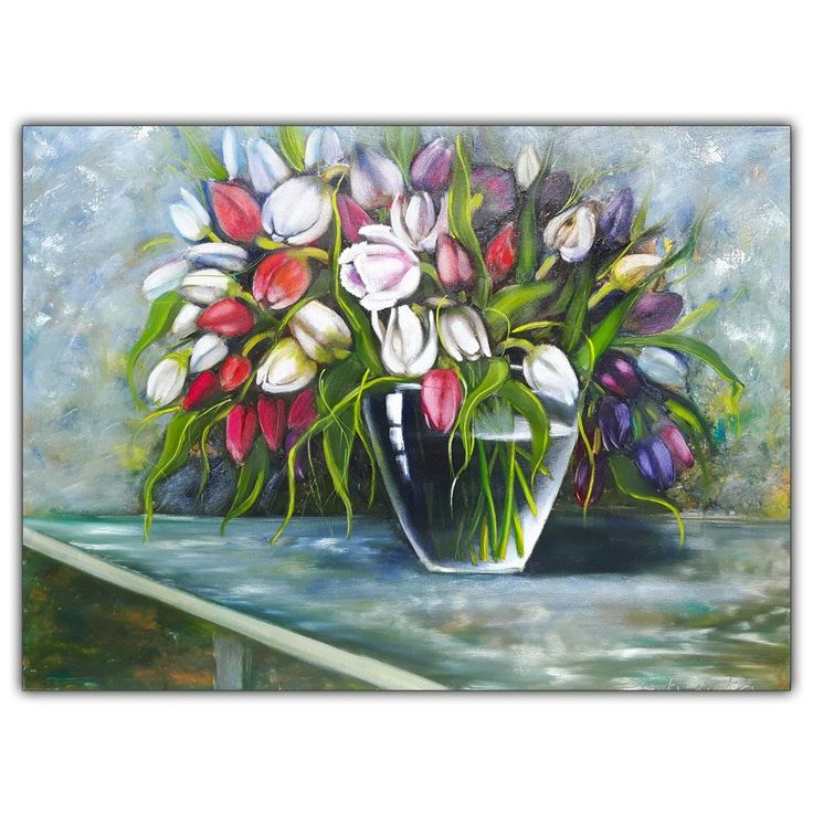 """Oil Painting """"Flowes in a Vase"""""""